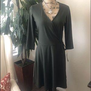 IZ BYER BEAUTIFUL OLIVE GREEN DRESS